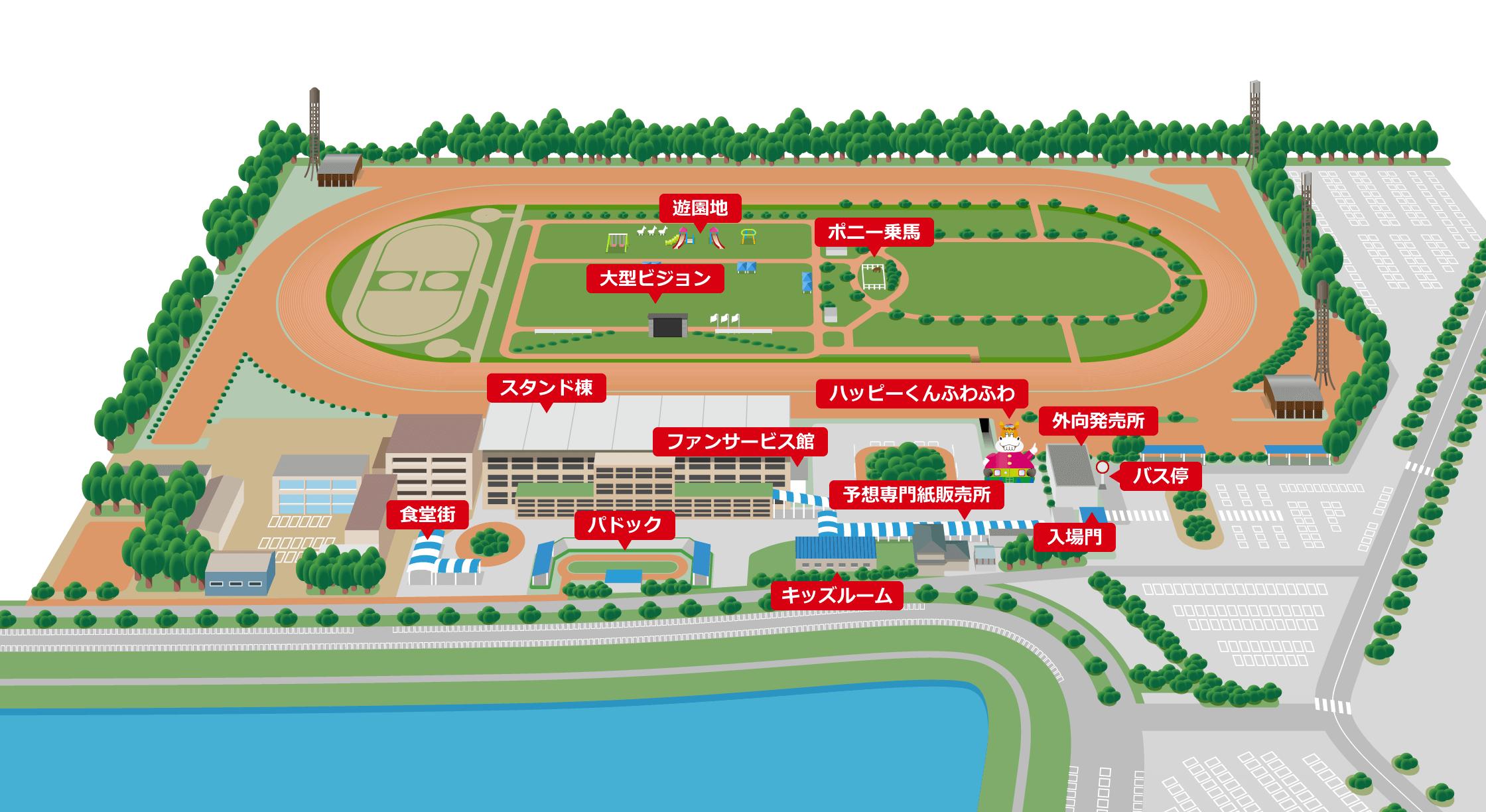 金沢競馬場ご案内MAP
