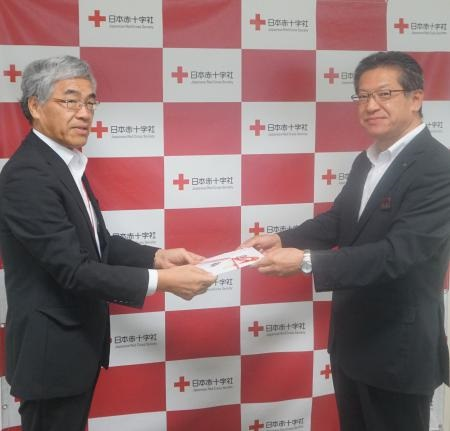 日本赤十字社石川県支部 棗事務局長、竹本競馬事業局長